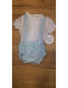 Conjunto de camisa y braguita para bebé de Dolce Petit Verano
