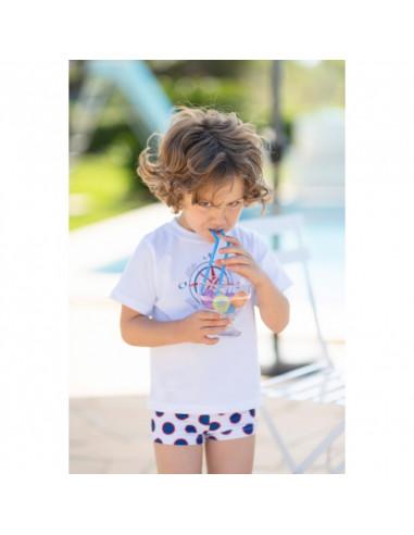 Camiseta para niño Lunar de Dolce Petit Verano