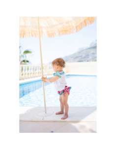 Camisa de bebé para niña Piñas de Dolce Petit Verano