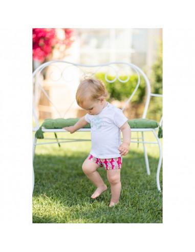 Camisa de bebe para niño Piñas de Dolce Petit Verano