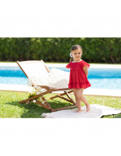 Vestido para niña Rojo de Dolce Petit Verano
