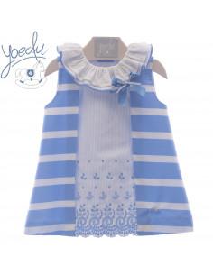 Vestido de bebé para niña Piamonte de Yoedu Verano
