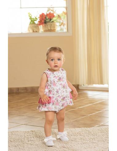 32311666b Ranita para bebé Flores de Dolce Petit Verano