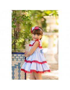 Vestido para niña Celeste de Dolce Petit Verano