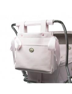 Bolso panera napa rosa de coche muñecas de Bebelux