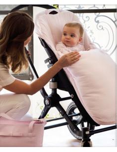 Saco para silla de paseo Nido Rosa de Pasito a Pasito