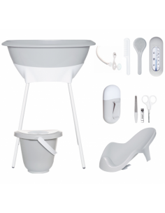 Set de baño bebé light grey de Luma Babycare