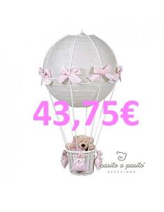 Lámpara globo cuadro Vichy Rosa de Pasito a Pasito