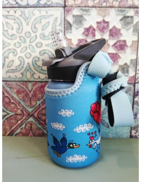 Botella térmica con funda Pajaros de Kukuxumusu