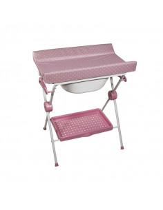 Bañera Plegable Lea Topos rosa