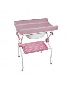 Bañera Sobrebidé Ada Topos rosa