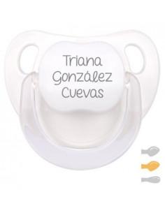 Chupete Baby Personalizado Blanco de Mi Pipo