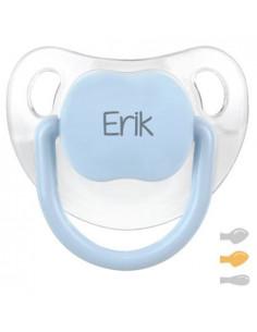 Chupete Baby Personalizado Transparente Azul-Pastel de Mi Pipo