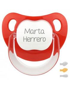 Chupete Baby Personalizado Rojo de Mi Pipo