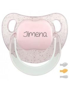 Chupete Baby Personalizado Glitter Rosa de Mi Pipo