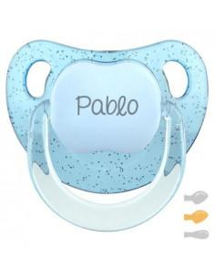 Chupete Baby Personalizado Glitter Azul de Mi Pipo