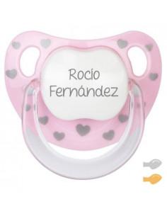 Chupete Baby Chic Personalizado Rosa de Mi Pipo