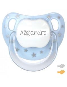Chupete Baby Chic Personalizado Azul de Mi Pipo