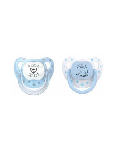Pack Twin Chic Azul SUPER PAPIS de Mi Pipo