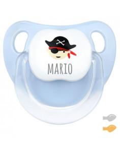 Chupete Baby Pirata Personalizado Azul de Mi Pipo