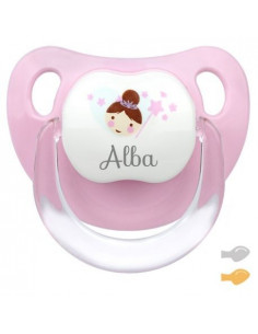 Chupete Baby Hada Personalizado Rosa de Mi Pipo