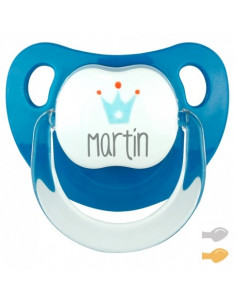 Chupete Baby Corona Personalizado Denim de Mi Pipo