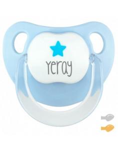 Chupete Baby Estrella Personalizado Azul Pastel de Mi Pipo