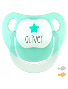 Chupete Baby Estrella Personalizado Verde Mint de Mi Pipo