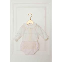 Blusa con braguita para bebé