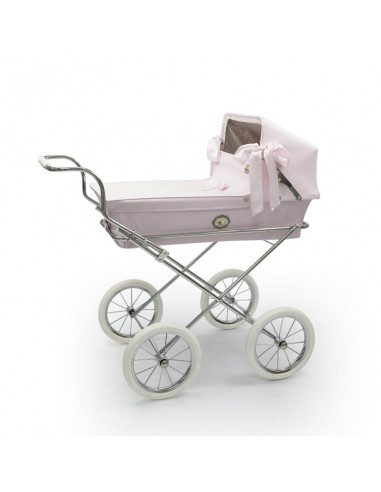 Cochecito pequeño para muñecas Mini Sweet Rosa de Bebelux