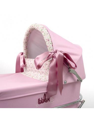 Cochecito de muñecas Romantic Rosa Bebelux Grande