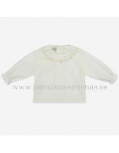 Blusa para bebé con puntilla Paz