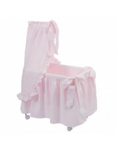 Moisés rosa de juguete de Bebelux