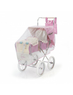 Burbuja rosa para silla gemelar de muñecas de Bebelux