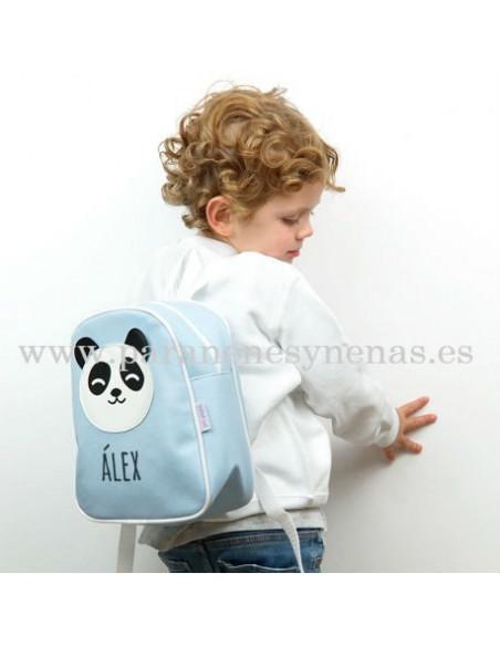 Mochila Panda Azul personalizada de Mi Pipo