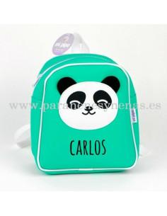 Mochila Panda Menta personalizada de Mi Pipo