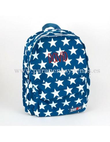 Mochila junior Estrellas Navy personalizada de Mi Pipo