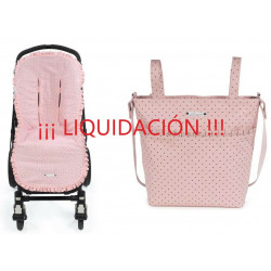 Pack Funda y Bolsa panera Triana Rosa