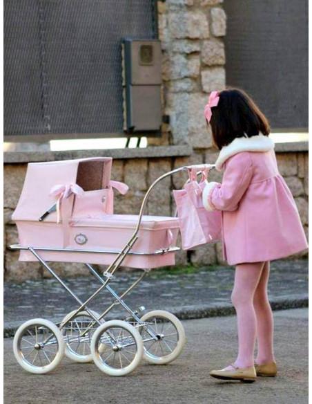 Coche muñecas charol rosa Sweet de Bebelux