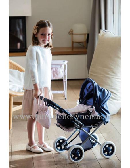Cuco y silla de muñecas pequeño Charlotte La Nina