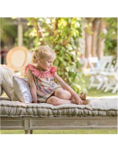 Vestido infantil para niña Dalias