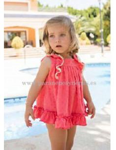 Vestido de bebé para niña Coral