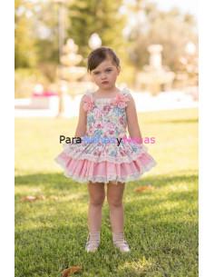 Vestido para niña infantil Hortensias