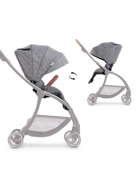 Carrito para bebé 2 en 1 Eagle 4S Duoset melange