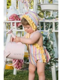 Peto para bebé de Rayas Amarillo