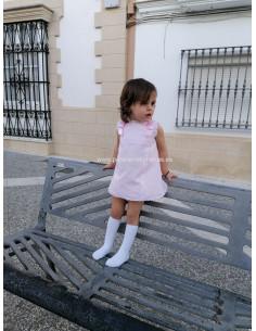 Vestido con braguita de bebe para niña Pique