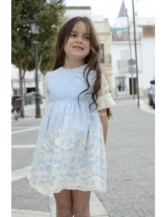 Vestido infantil para niña Violeta