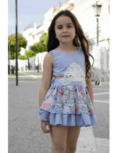 Vestido para niña Aplique