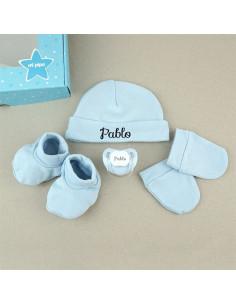 Set Recién Nacido azul personalizado de Mi Pipo