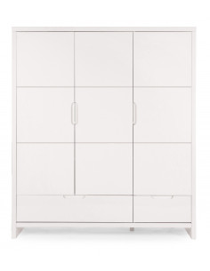 Armario infantil 3 puertas y 2 cajones Quadro White de Child Home